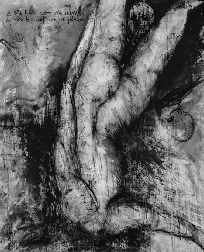 A mi ser con mi alma, carbonsillo sobre lienzo, 60 x80 ,2016