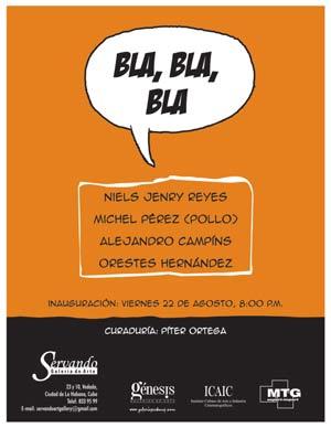 Invitación, expo Bla, bla, bla