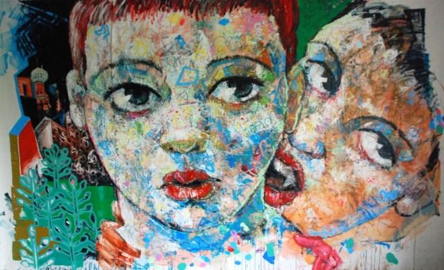 Obra de Niels Reyes en la expo Bla, bla, bla