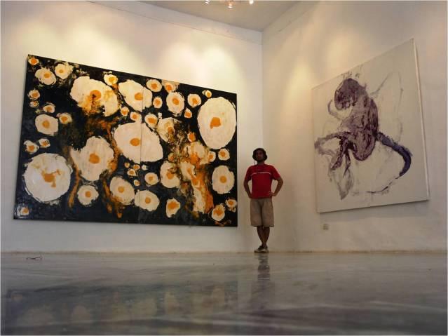 Obras de José Eduardo Yaque en la expo Bomba