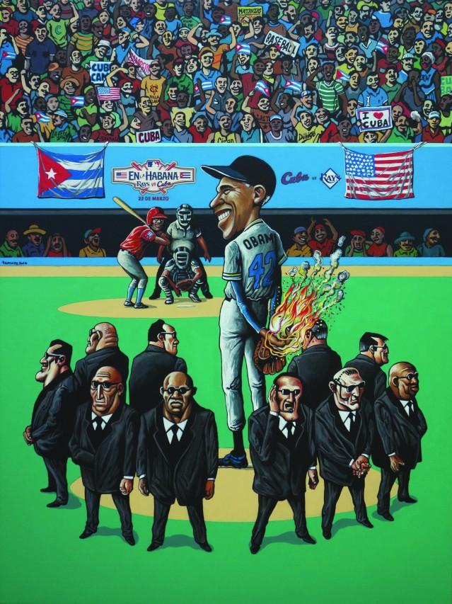 2016_Cuba vs Rays_acrilico s lienzo_40 x 30in