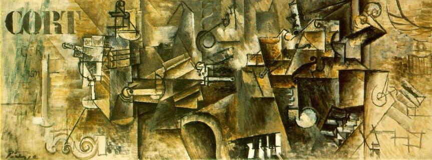 Pablo Picasso,Still Life with Piano, 1911