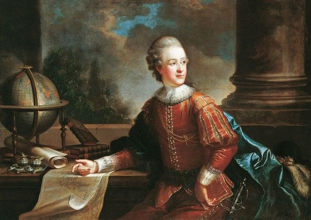 Friedrich Oelenhainz, Portrait of the future Prince Alois I of Liechtenstein, 1776