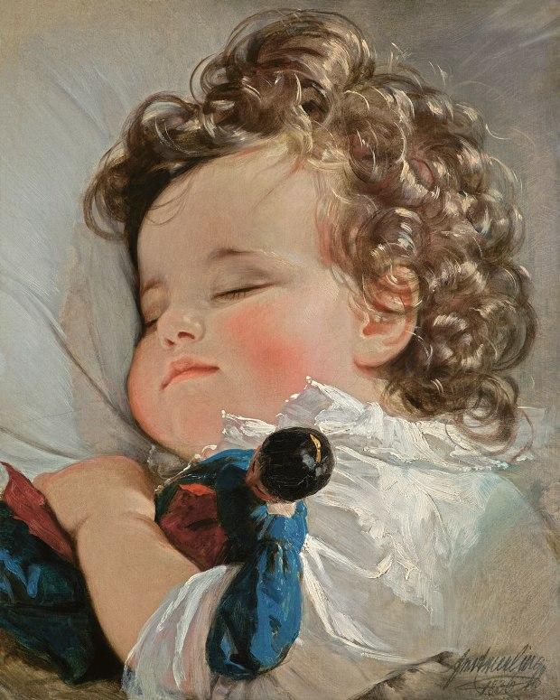 Friedrich von Amerling, Portrait of Princess Marie Franziska of Liechtenstein (1834-1909) at the age of two, 1836