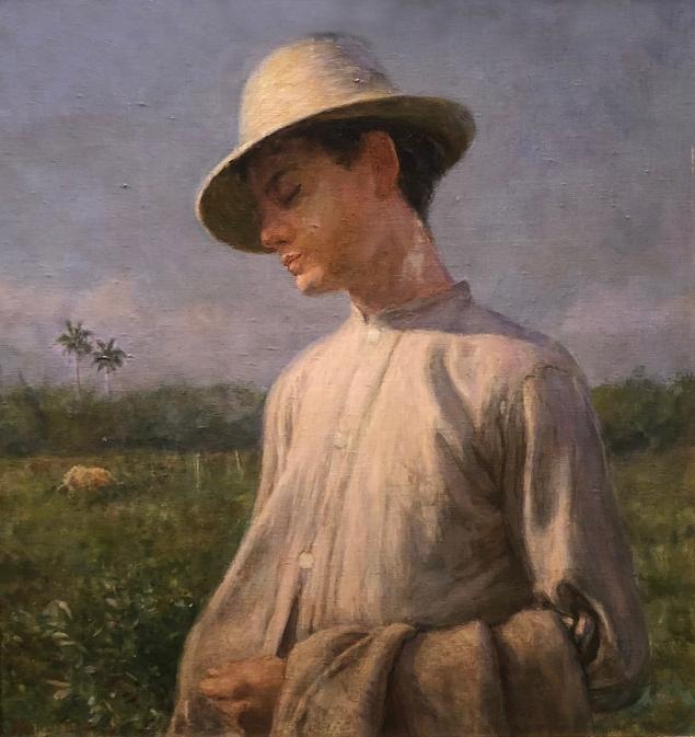 Armando G. Menocal (1863 - 1942) Peasant Child, 1936, Oil on board