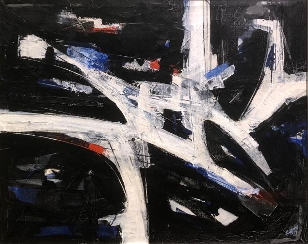 Guido Llinás (1923 - 2005) Composition, 1957, Tempera on canvas