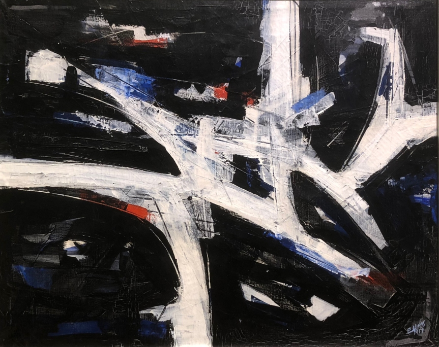 Guido Llinás (1923 - 2005) Composition, 1957, Tempera on canvas