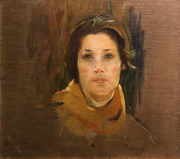 Leopoldo Romañach (1862 - 1951) Cabeza de Estudio, 1926, Oil on canvas