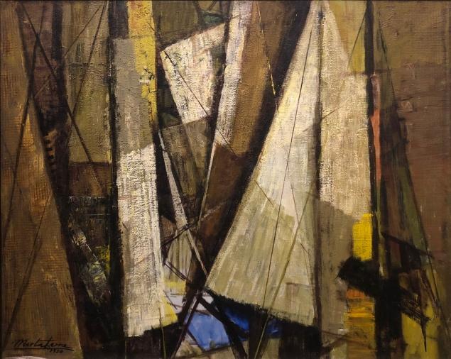 Mirta Cerra (1904 - 1986) Ships, 1953, oil on canvas