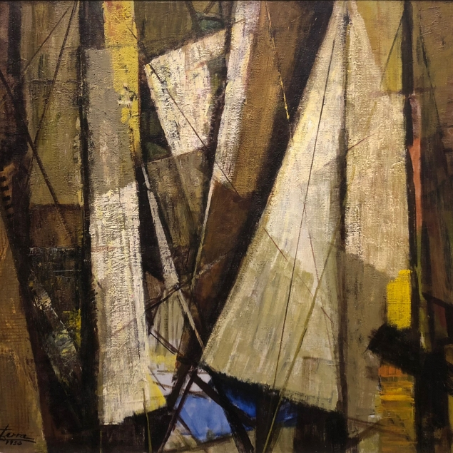 Mirta Cerra (1904 - 1986) Ships, 1953, oil on canvas