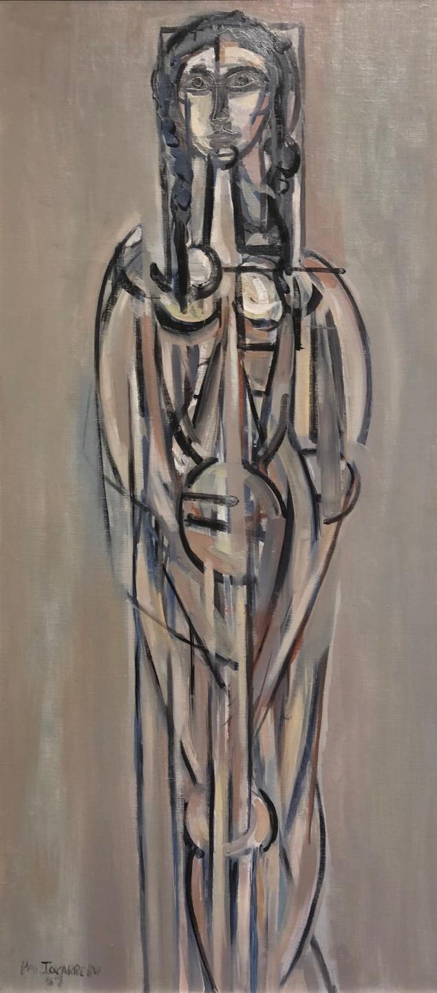 René Portocarrero (1912 - 1985) Figure in grey, 1957, oil on canvas