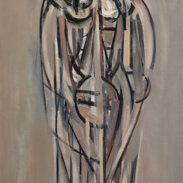 René Portocarrero (1912 - 1985) Figure in grey, 1957, oil on canvas