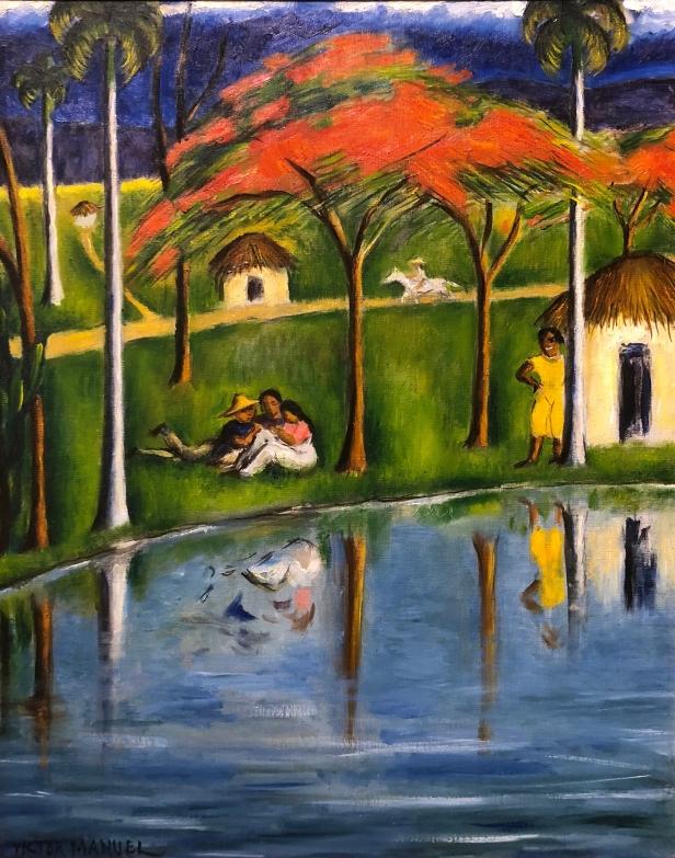 Víctor Manuel (1897 - 1969) Landscape With Figures, 1950, Oil on canvas