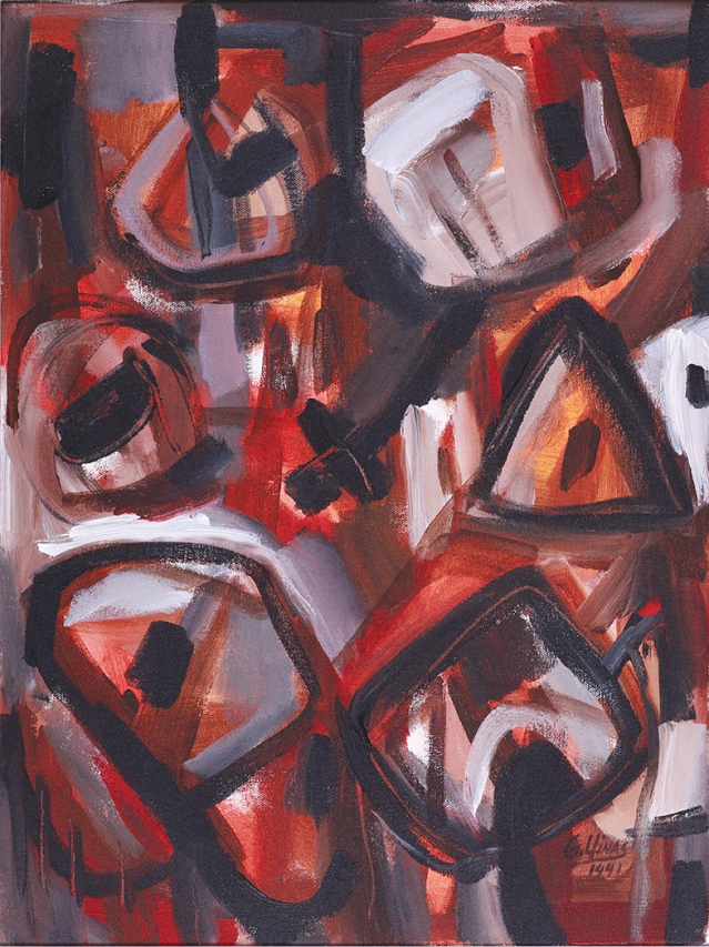 "Guido Llinás, series Pintura negra, 1991, oil on canvas, 18"" x 24"
