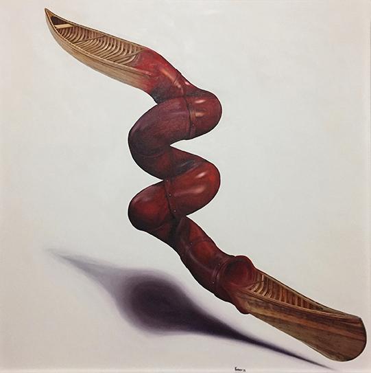 Yourden Ricardo, Cuando el efecto se convierte en causa, 2016, oil on canvas, 59 x 59
