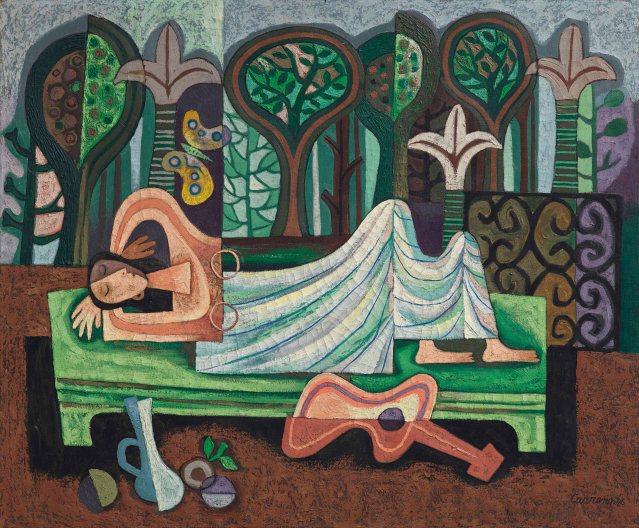 Mario Carreño (1913-1999), La siesta, 1946. 30 x 36 in