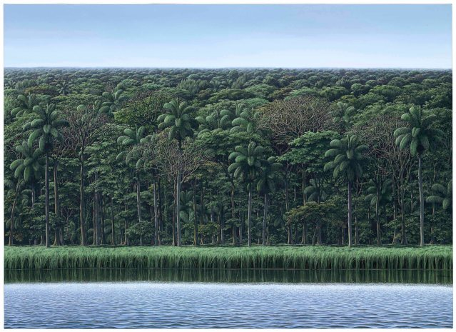 Tomás Sánchez (b. 1948), Visión de orilla, 2009. 48 x 66½ in