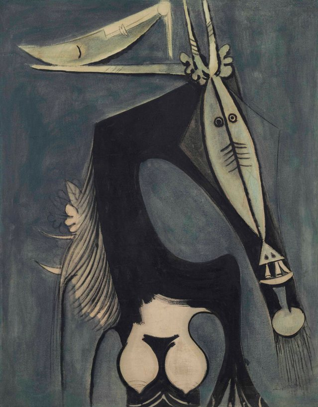 Wifredo Lam (1902-1982), Figure, 1949. 42½ x 33½ in