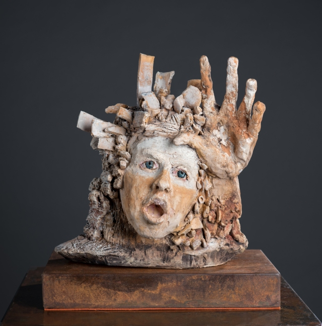 Aimee Perez, Diario de una Caida, ceramic sculpture, varied dimensions