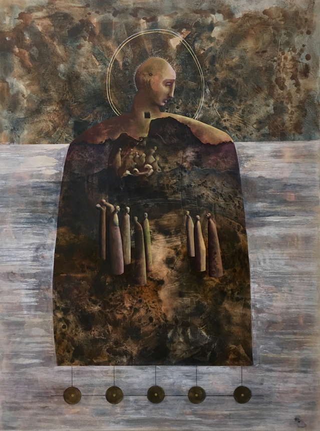 Angela Alés, Refuge, 2018, Oil on canvas, 48x36""