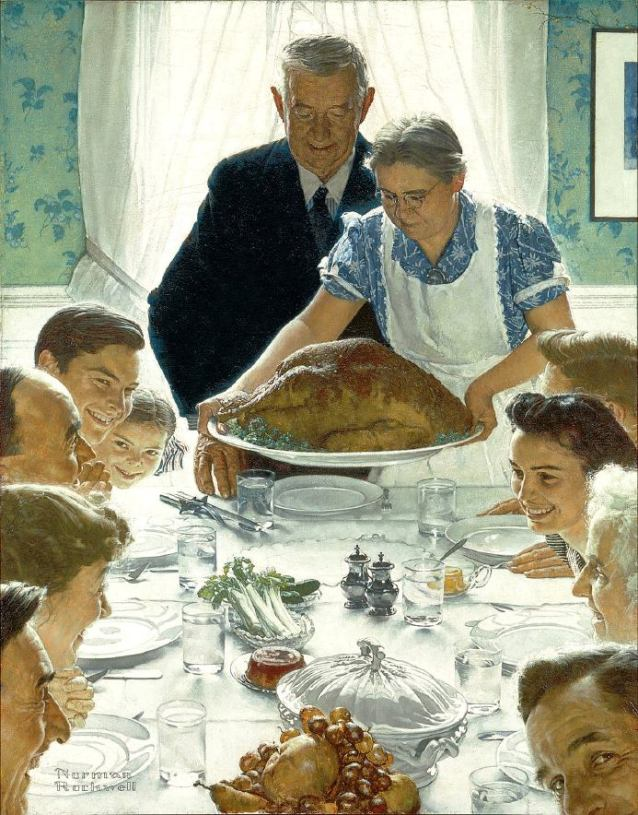 Norman Rockwell, Freedom from Want, 1943, 45.75 in × 35.5 in, Norman Rockwell Museum, Stockbridge, Massachusetts