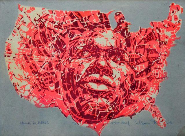 Nelson Stevens, Homer da Brave, 1972 Silkscreen. Photo Courtesy of Nelson Stevens:Rose Blouin