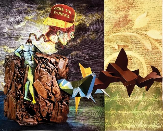 Ivonne Ferrer, Lo que te espera en Cuba Chamberlain, mixed on canvas, 30 x 40